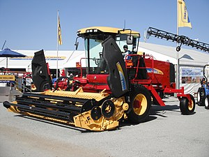 Swather - New Holland Haybine H8040 self-propelled windrower