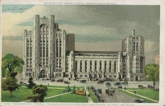 Detroit Masonic Temple - Masonic Temple, circa 1910s