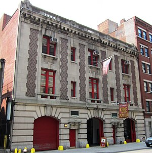 Spring Street (Manhattan) - New York City Fire Museum, a former firehouse, at 278 Spring Street