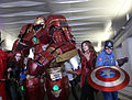 New York Comic Con 2015 - Hulkbuster, Black Widow, Scarlet Witch & Capt America (22064959215).jpg