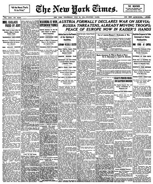 New York Times 1914-07-29