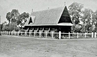 St. Andrew's Church, Toogoolawah - New buttresses for St. Andrew's Anglican Church, Toogoolawah 1913