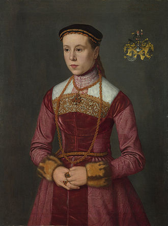 Nicolas Neufchatel - Nicolas Neufchatel, Portrait of a elderly Young Lady, oil on canvas, 65.4 cm x 80.6 cm, c. 1561. National Gallery, London.
