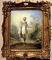 Nicolas lancret (copia da), pierrot in un paesaggio, xviii sec..JPG