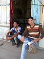 Nishapuri Boys - sited front of their store - Near Bibi Shatita Mosque 2.JPG