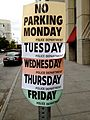 No Parking Monday Tuesday Wednesday Thursday Friday (8133081771).jpg