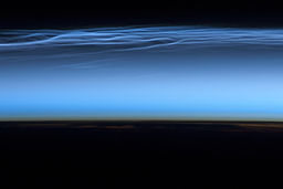 Noctilucent clouds from ISS - 13-06-2012