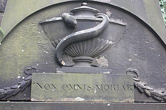 "Greyfriars Kirkyard - ""Non Omnis Moriar"" (Not All Of Me Will Die), Greyfriars Kirkyard, Edinburgh"