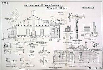 Norah Head Light - Original plans of the keeper's quarters, 1900