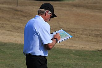 Greg Norman - Norman designing The Eastern Golf Club in Yering, Australia.