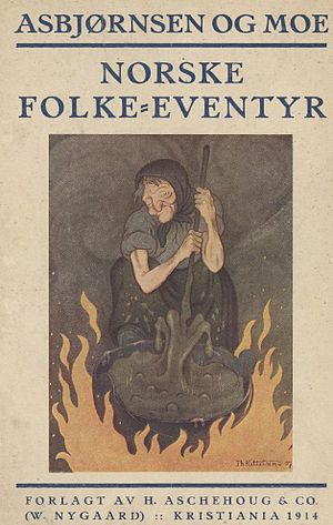 Norwegian Folktales - Cover art to 1914 edition, artist: Theodor Kittelsen