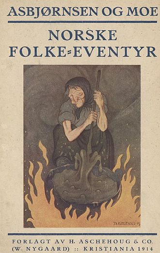 Norwegian Folktales - Cover art to 1914 edition, artist: Theodor Kittelsen