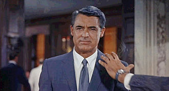 North by Northwest - Cary Grant, just as he is accosted by his kidnappers in the film's opening act