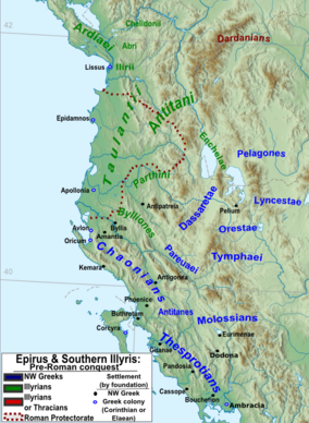 The location of the settlement and neighboring tribes in antiquity