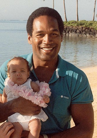 O. J. Simpson murder case - Simpson with his daughter Sydney, 1986