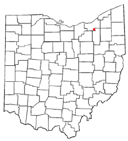 Location of Brecksville in Ohio
