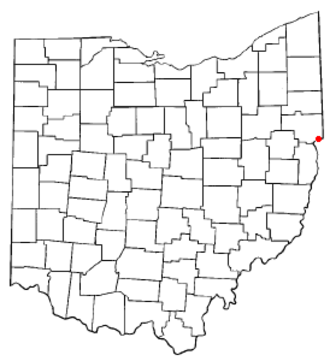 East Liverpool, Ohio - Image: OH Map doton East Liverpool