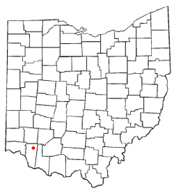 Location of Newtonsville, Ohio