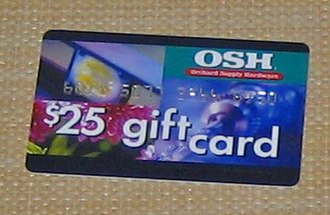 Gift card - Gift card for a US hardware store