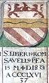 Obernzell Schloss - Festsaal Wappen Papst 3.jpg