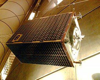 Ørsted (satellite) - Model of the Ørsted Satellite in the Tycho Brahe Planetarium