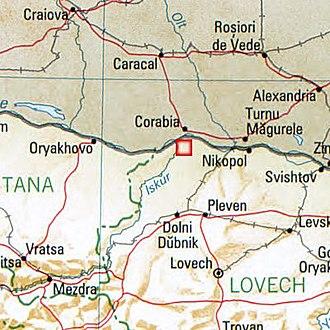 Oescus - Local map