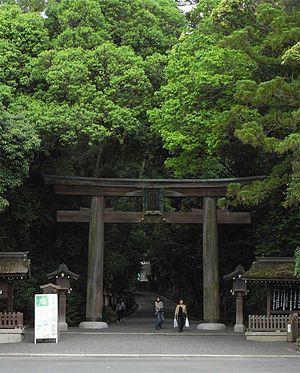 Ōmiwa Shrine - Second torii leading to the inner sanctuary