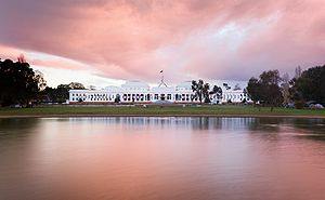 Parliament of Australia - Old Parliament House as viewed from the front