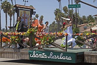 Spanish Americans - Santa Barbara, California's annual Old Spanish Days fiesta celebration.