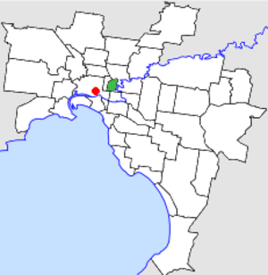 City of Collingwood - Location in Melbourne