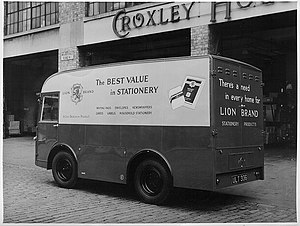 John Dickinson Stationery - A Lion Brand electric delivery van in 1959