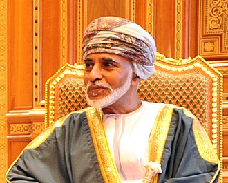 Qaboos bin Said al Said - The Sultan of Oman in traditional attire