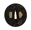 Omori Teruhide - Tsuba with a Dragon Emerging from Waves - Walters 51331 - Back.jpg