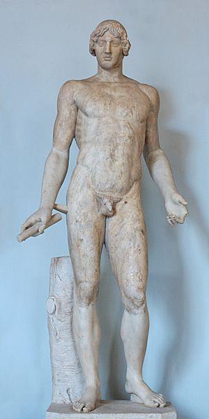 Calamis (5th century BC) - Omphalos Apollo, Roman copy, Musei Capitolini.