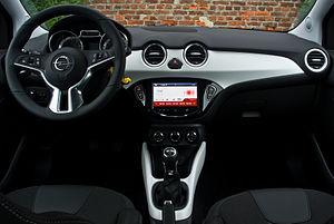 Opel Adam - Image: Opel Adam 1.4 Slam – Innenraum, 15. Januar 2014, Düsseldorf