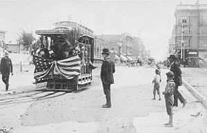 San Diego Electric Railway - Opening Day on the San Diego Cable Railway   June 7, 1890