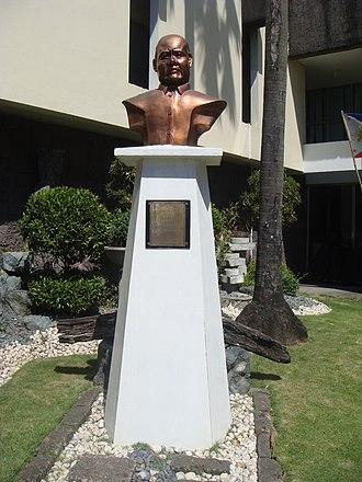 Blas Ople - Senator Ople's monument at Gat Blas F. Ople Sentro ng Kabataan, Sining at Kultura ng Bulacan, Malolos City, Bulacan.