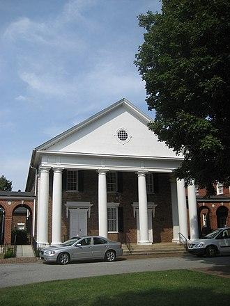 Buffalo Presbyterian Church and Cemetery - Image: Original portion of Buffalo Presbyterian Church