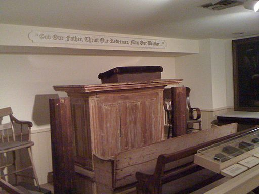 Original pulpit of Bishop Richard Allen