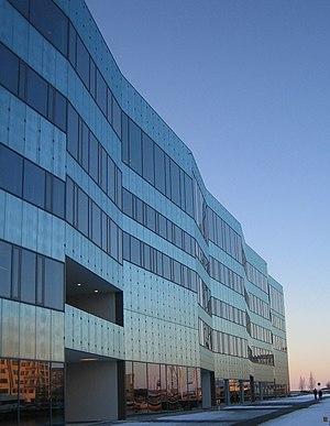 Malmö University - The building Orkanen contains the library.