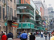 Bourbon Street, New Orleans, in 2003, looking towards Canal Street.