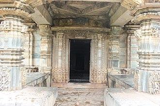 Kalleshwara Temple, Hire Hadagali - Ornate porch entrance into Kalleshvara temple at Hire Hadagali
