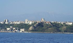 A view of Ortona from the sea.