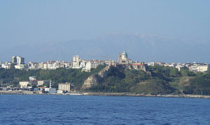 Ortona - A view of Ortona from the sea.