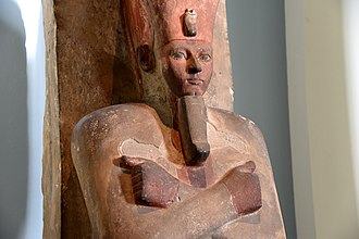 Amenhotep I - Osiride statue of Amenhotep I, currently housed in the British Museum