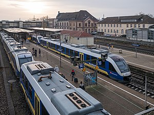 NordWestBahn - NordWestBahn trains at Osnabrück Hbf