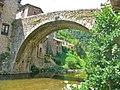 Osor. el Pont Vell des de la llera de la riera - panoramio.jpg