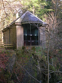 The Hermitage, Dunkeld waterfall in Perth and Kinross, Scotland, UK