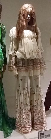 Ossie Clark Satin And Chiffon Trouser Suit In Botticelli Print 1969