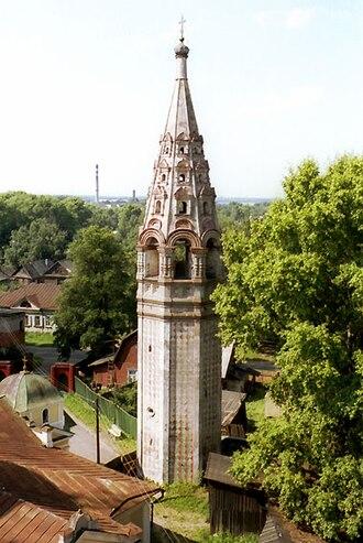 Ostashkov - The 17th-century bell tower of the Resurrection Cathedral in Ostashkov